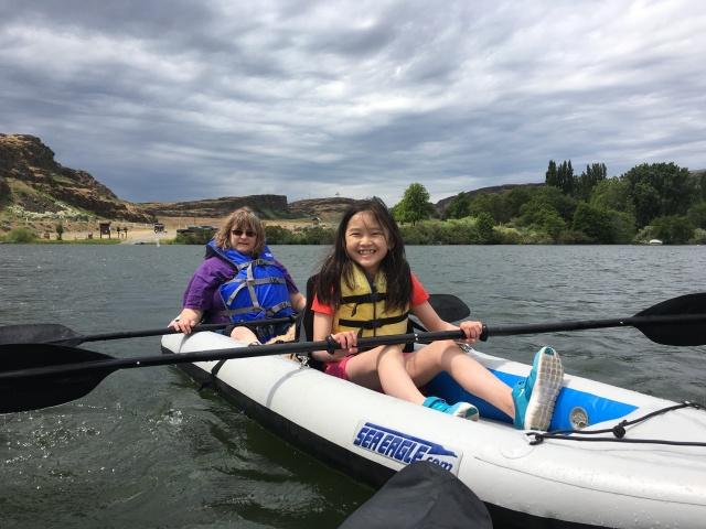 Karman loving kayaking!