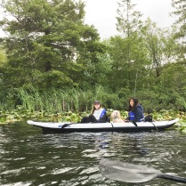 Photo of girls kayaking on Deep lake