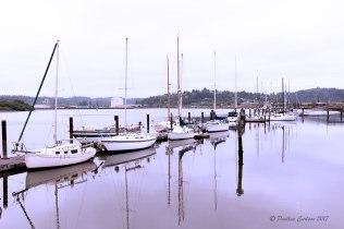 Photo sailboats in Coos Bay, Oregon taken with a Sigma 35 Art lens.