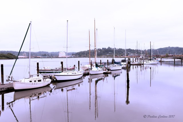Photo sailboats in Coos Bay, Oregon taken with a Sigma 35 Art lens.