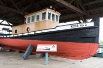 Photo of the Koos No 2 Tugboat seen at the Coos Bay, Oregon boardwalk.