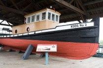 Photo of the Koos No 2 Tugboat seen at the Coos Bay, Oregon boardwalk.