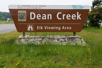 Photo of the Dean Creek Elk Viewing Area sign