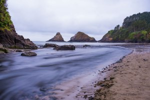 Photo of Cape Creek at Heceta Head Lighthouse State Scenic Viewpoint.; image taken with the X4 10 stop neutral density filter