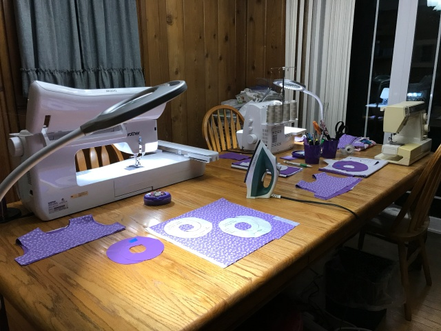 Photo of the sewing room.