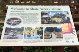 Photo of descriptive sign at Shore Acres State Park