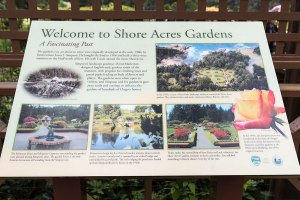 Photo of descriptive sign at Shore Acres State Park