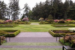 Photo of the main garden at Shore Acres State Park.