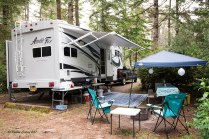 Photo of an Arctic Fox 5th Wheel trailer at Tugman State Park in site A31