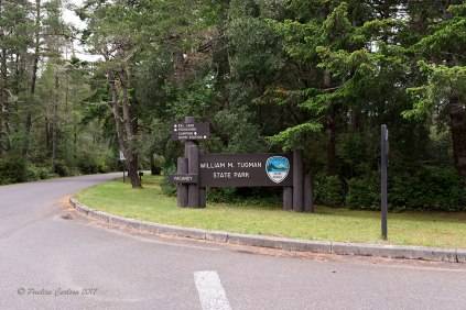 A photo of the sign at the entrance to Tugman State Park