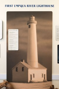 Photo of the original Umpqua Lighthouse