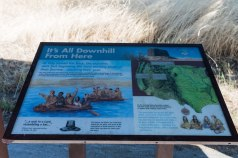 Photo of sign with info about Lewis and Clark