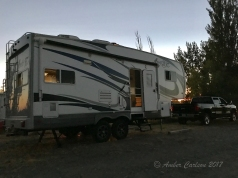 5th wheel boondocking in Irrigon, Oregon