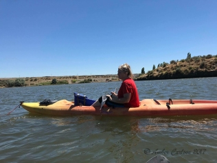 Photo of woman kayaking on the Columbia River