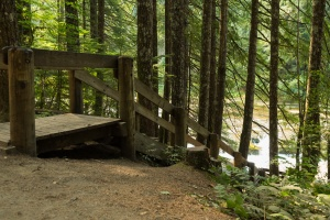 Photo of stairs on the Lower Falls Trail