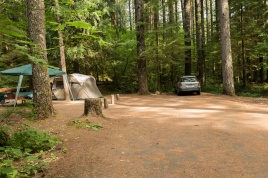 Photo of campsite at Lower Falls