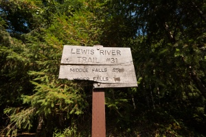 Photo of the trail sign