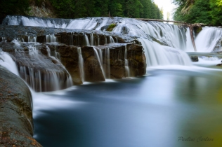 Photo of Middle Lewis River Falls located in Gifford Pinchot National Forest.