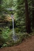 Photo of a waterfall on a hiking trail.