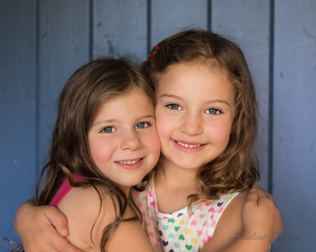 Photo of two girls hugging