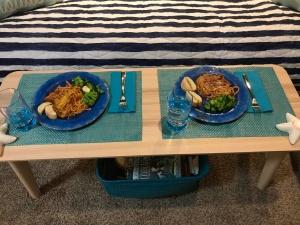 Photo of a spaghetti dinner