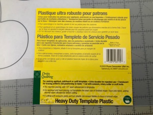 P.hoto of template plastic label