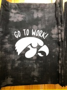 Photo of finished Gymhawks bag with 2018 motto.