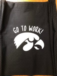 Photo of Gymhawks Bag with 2018 motto.