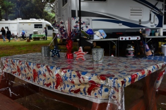 Photo of Fourth of July picnic table.
