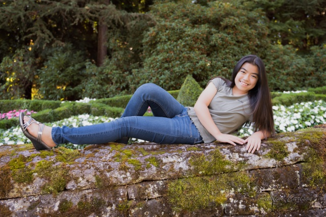 Photo of girl taken at Lewis and Clark College
