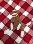 sock monkey embroidery
