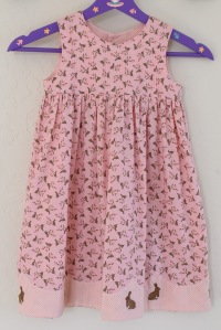 Pauline's Photography Little girls pink rabbit dress