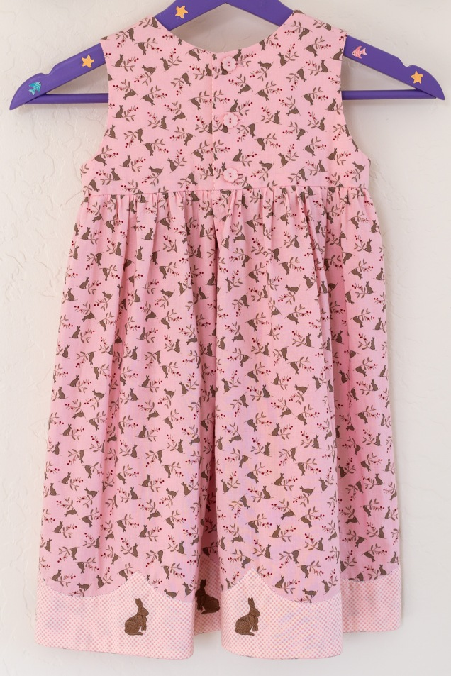 pink rabbit dress back