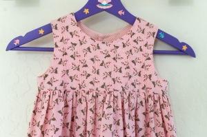 Girls pink rabbit dress bodice